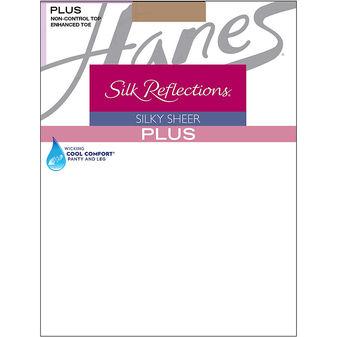 Hanes Silk Reflections Plus Enhanced Toe Sheer Pantyhose 00P15