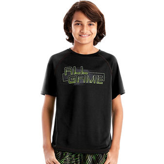 Hanes Sport™ Boys\' Graphic Short Sleeve Tech Tee OD183