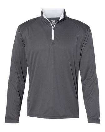 Badger Sideline 1/4 Zip Pullover T-Shirt 4106