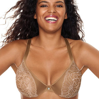 Just My Size Embellished Plunge Foam Underwire Bra 1204