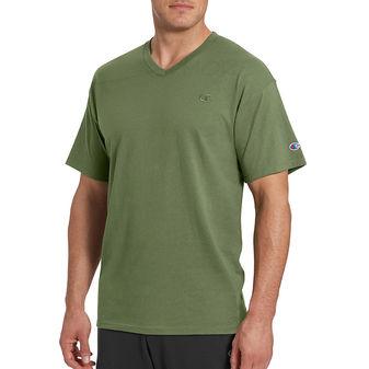 Champion Mens Classic Jersey V-Neck Tee Shirt T0221