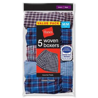 Hanes Boys Red Label Tartan Boxer B841W5