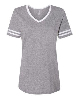 JERZEES Women\'s Varsity Triblend V-Neck T-Shirt 602WVR