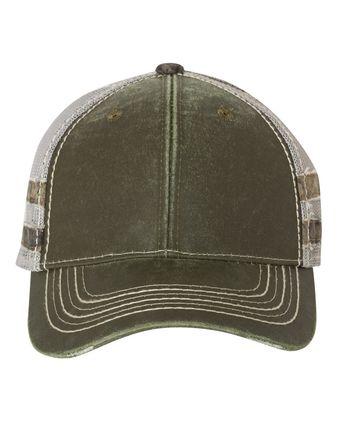 Outdoor Cap Frayed Camo Stripes Mesh-Back Cap HPC400M