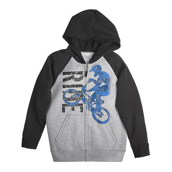 Hanes Boy\'s Graphic Full Zip Hoodie w/FreshIQ D233