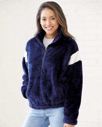 Boxercraft Women\'s Remy Fuzzy Fleece Pullover FZ04