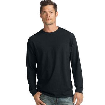 Hanes ComfortSoft Men\'s Long-Sleeve T-Shirt 4-Pack O5286