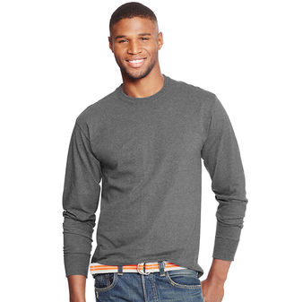 Hanes X-Temp Mens Long-Sleeve T-Shirt O5716