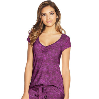Maidenform Lace Trim Cap Sleeve Tee MFW7100