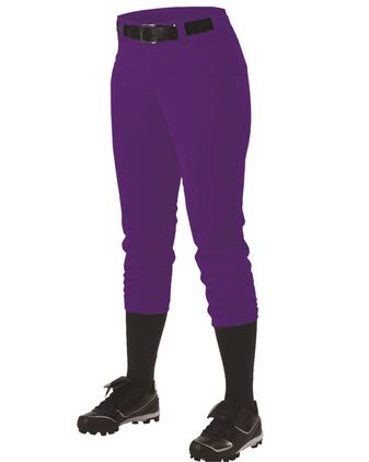 Alleson Athletic Girls\' Belt Loop Fast-Pitch Pants A00067