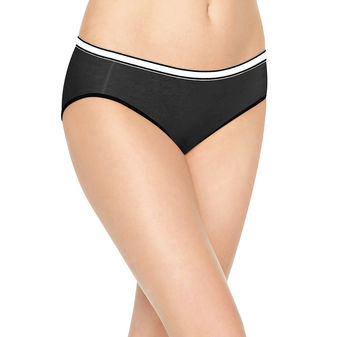 Hanes Women\'s Cool Comfort Cotton Stretch Hipster 8-Pack E841AS
