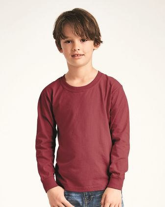 Comfort Colors Garment-Dyed Youth Midweight Long Sleeve T-Shirt 3483