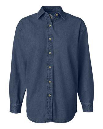 Sierra Pacific Women\'s Long Sleeve Denim Shirt 5211