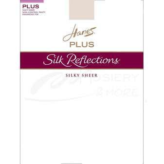 Hanes Silk Reflections Plus Sheer Non-Control Top Enhanced Toe Pantyhose P15