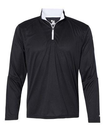 Badger Sideline 1/4 Zip Pullover T-Shirt 4106