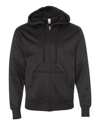 Independent Trading Co. Poly-Tech Hooded Full-Zip Sweatshirt EXP444PZ