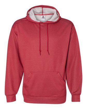 Badger Pro Heather Hooded Sweatshirt 1450