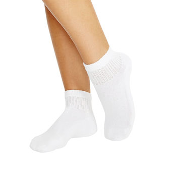 Hanes Cushioned Women\'s Ankle Athletic Socks 10-Pack 681/10