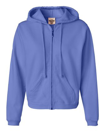 Comfort Colors Women\'s Garment-Dyed Full-Zip Hooded Sweatshirt 1598