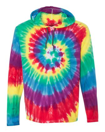Dyenomite Tie-Dyed Hooded Pullover T-Shirt 430VR
