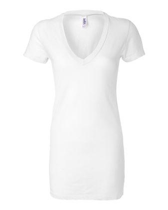 BELLA + CANVAS Women\'s Tissue Jersey Deep V-Neck Tee 8417