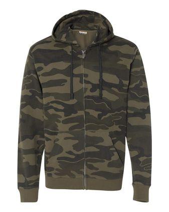 Burnside Camo Full-Zip Hooded Sweatshirt 8615