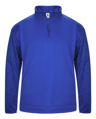 Badger Sport Tonal Blend Fleece Long Sleeve Quarter-Zip Pullover 1488