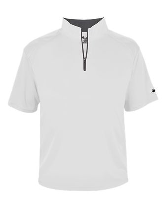 Badger Youth B-Core Short Sleeve Quarter-Zip Pullover 2199