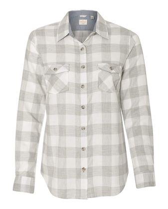 Weatherproof Vintage Women\'s Brushed Flannel Long Sleeve Shirt W164761