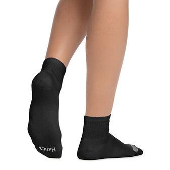 Hanes Women\'s Cool Comfort Ankle Socks Extended Sizes 8-12, 6-Pack 681V6P
