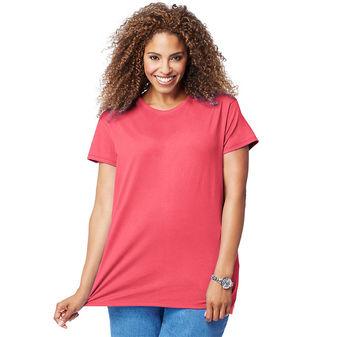 Just My Size Cotton Jersey Short-Sleeve Scoop-Neck Women\'s Tee OJ777