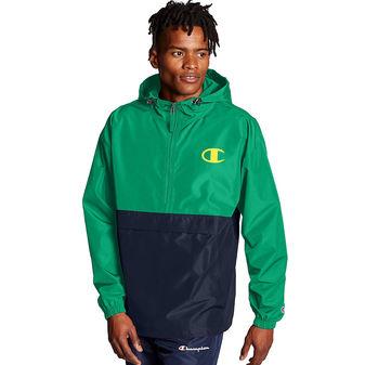 Champion Colorblocked Packable Jacket. Pop Color Logo V1016 550750