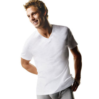 Hanes Big Men\'s ComfortSoft® TAGLESS® V-Neck Undershirt 3-Pack (2X-3X) 777X