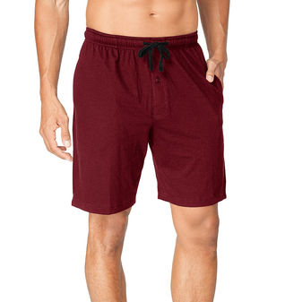 Hanes Men\'s Jersey Lounge Drawstring Shorts with Logo Waistband 2-Pack 01005
