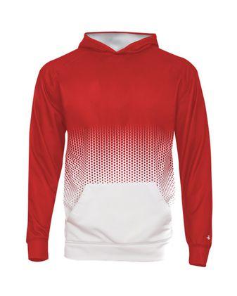 Badger Youth Hex 2.0 Hooded Sweatshirt 2404