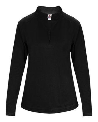 Badger Women\'s Quarter-Zip Poly Fleece Pullover 1486