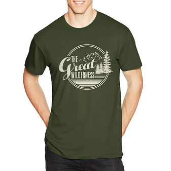 Hanes Men\'s The Great Wilderness Graphic Tee GT49 Y06369
