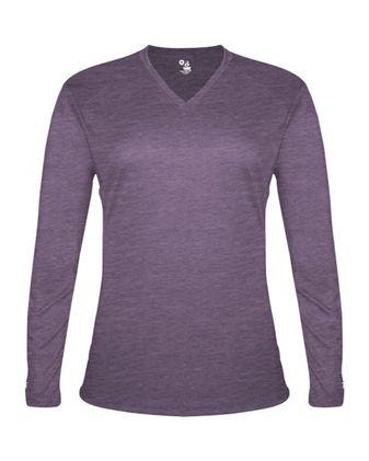 Badger Women\'s Tri-Blend Long Sleeve T-Shirt 4964