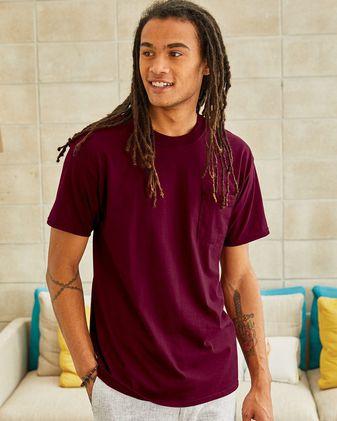 Hanes Beefy-T® Short Sleeve Pocket T-Shirt Sty# 5190