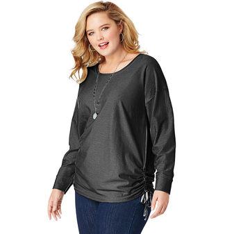 JMS Fashion Essentials Shadow Stripe Tunic Top OJ335