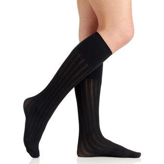 Berkshire Women\'s Comfy Cuff Vertical Stripe Trouser Socks 5104