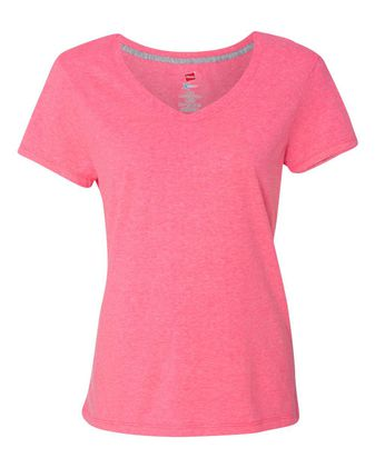 Hanes X-Temp Women\'s V-Neck T-Shirt 42V0