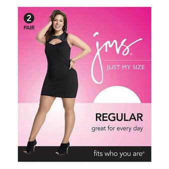 JMS Smooth Finish Regular Sheer Toe Panty Hose 2-PK 88801