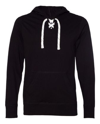 J. America Jersey Sport Lace Hooded Pullover 8231