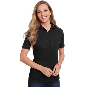 Hanes ComfortSoft Cotton Pique Womens Polo Shirt 035X