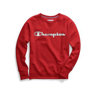 Champion Women\'s Powerblend Fleece Crew, Chainstitch Logo