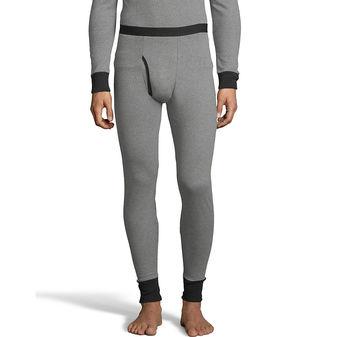 Hanes Men\'s 2-color Fusion Knit Thermal Pant 123302