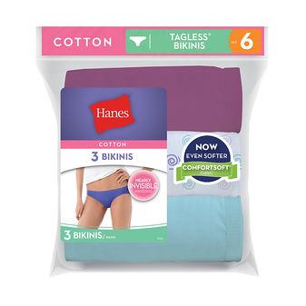 Hanes Women\'s Cotton Bikinis D42LAS