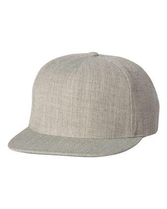 Yupoong Five-Panel Wool Blend Snapback Cap 5089M