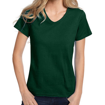 Hanes Relaxed Fit Womens ComfortSoft V-neck T-Shirt 5780
